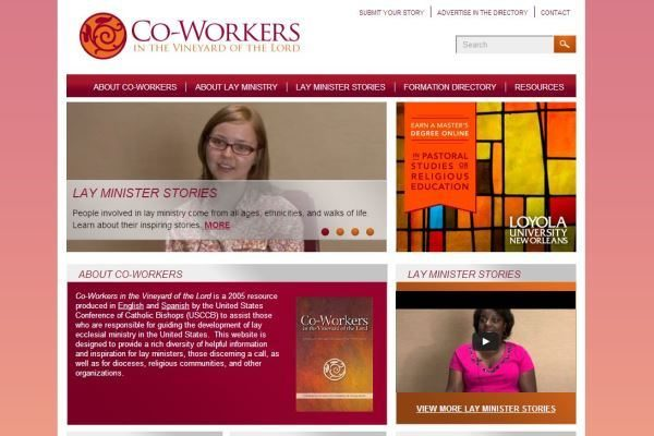 Co-Workers in the Vineyard Website